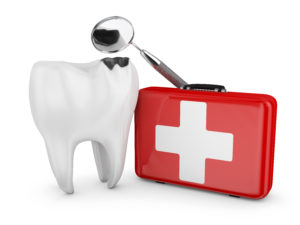 white tooth red emergency kit